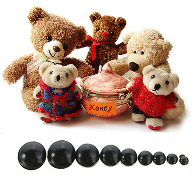 20/100x Black Plastic Safety Eyes 6-20mm For Teddy Bear Dolls Toy Animal DIY