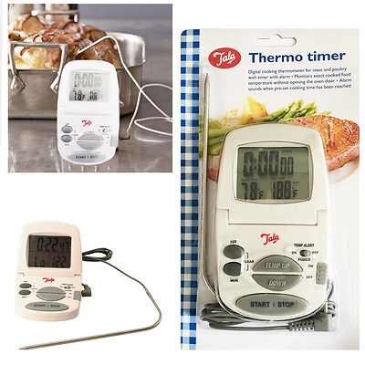TALA Oven Thermo Digital Timer Meat Roast Baking Heat Measuring Alarm Cooking