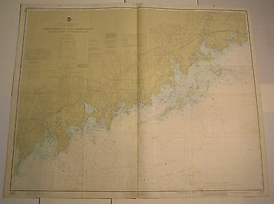 North Shore Long Island Sound Stratford Connecticut 1977 vintage nautical map