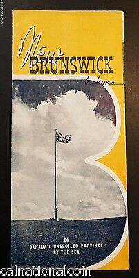 Vintage New Brunswick, Canada Tourist Brochure
