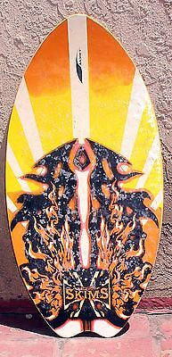 VINTAGE MOREY BOOGIE SKIM BOARD  Surf ocean  Awesome Paint FLAMES cool graphics