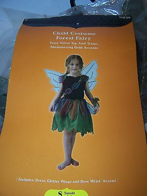 Halloween Child Forest Fairy Costume Size Small 4-6 NEW