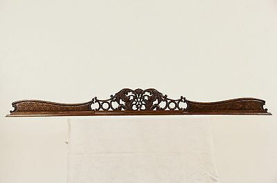"Carved 83"" Oak 1890 Crest Antique Architectural Salvage"