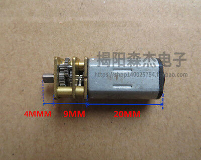 DC 3V-6V Alloy Steel Gear N30 Micro Geared Motor with Reduction Gear box