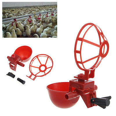 Useful 5 Pack Poultry Water Drinking Cups- Chicken Hen Plastic Automatic Drinker