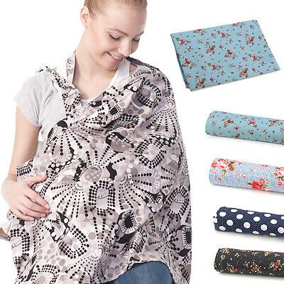 Baby Mum Breastfeeding Nursing Poncho Cover up Udder Cotton Blanket Shawl Cloth