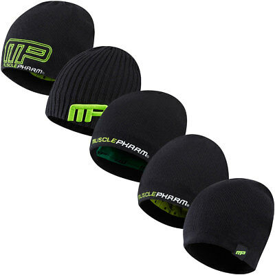MusclePharm Mens Knitted Beanie Winter Knit Wooly Hat