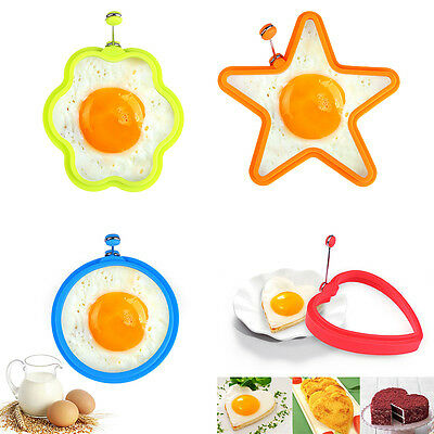 4 Shape Non-stick Silicone Fried Egg Mold Pancake Egg Ring Cooking Baking Tools