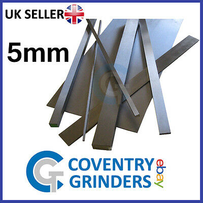 Ground Flat Stock Gauge Plate 5mm Thickness - 01 Tool Steel - Widths 5mm-300mm