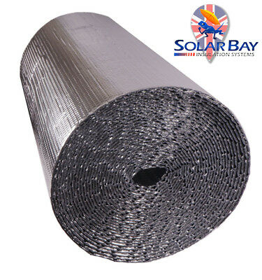 Foil double Bubble Insulation for floor wall caravan shed loft roof 30m2 Roll
