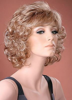 Fashion Wig Ladies Full Soft Curls Ash Blonde Full Wig Natural Classic Style