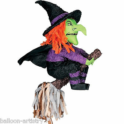 "24"" Halloween Horror Green Flying Witch Bash PINATA Party Game Decoration"