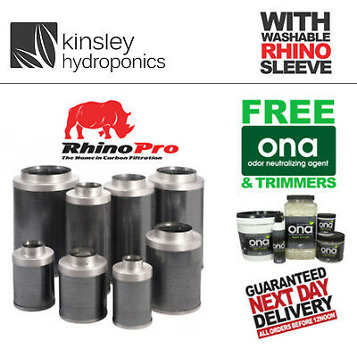 Rhino Pro Filter 4 5 6 8 10 12 Inch Carbon Hobbys Pros Hydroponics FREE ITEMS