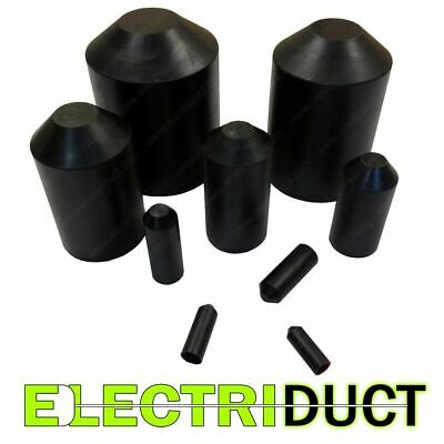 """Heat Shrink End Caps Adhesive Glue Lined - 3/8"""" to 5"""" Sizes - Electriduct"""
