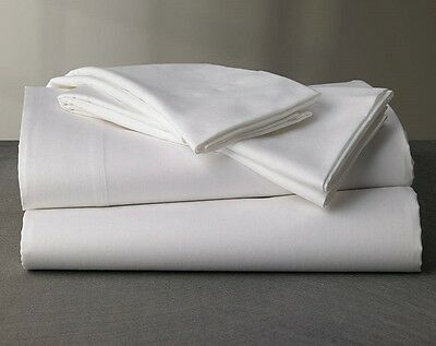 1 new white t180 twin fitted bed sheet 36x80x9 hotel motel resort spa percale