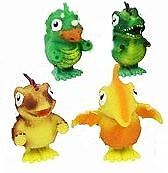2 Wind Up Jumping Dinosaurs Dino Toy Kid Child Party Bag Stocking Gift Filler