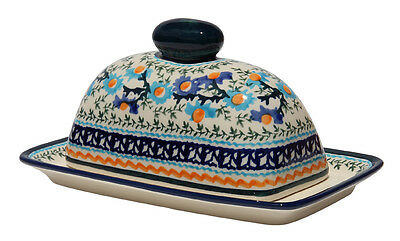 Polish Pottery Butter Dish from Zaklady Boleslawiec Polish 1377-du157