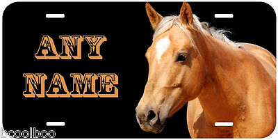 Golden Palomino Horse Personalized Any Name Novelty Car License Plate P017
