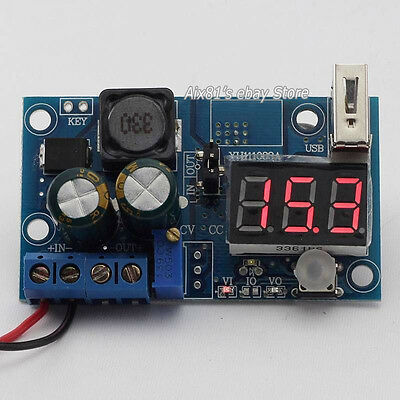 LM2596 DC Power Supply Adjustable Step Down Module Converter LED Voltmeter + USB