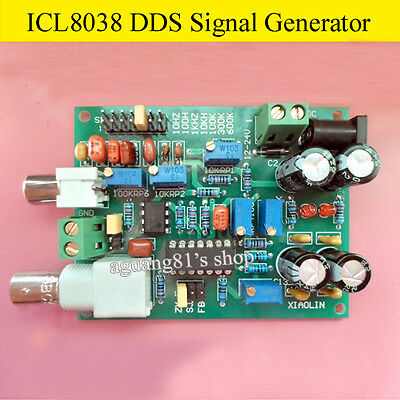 ICL8038 DDS Signal Generator Sine Square Triangle Wave + BNC cable + Test clip
