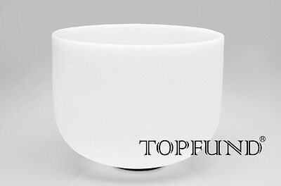 TOPFUND® Frosted D Sharp Note Sexual Chakra Quartz Crystal Singing Bowl 30 cm