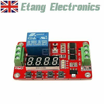 5V / 12V / 24V Relay Module Cycle Timer PLC Home Automation Delay Multifunction