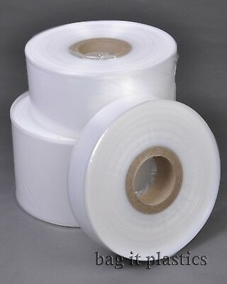 Layflat Tubing Clear Polythene Plastic Rolls - Suitable For Food Use