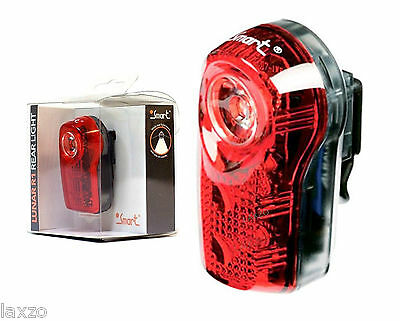 Smart Lunar R1 - 1 Watt 3 Led Bicycle Bike Rear Light With Batteries & Fittings