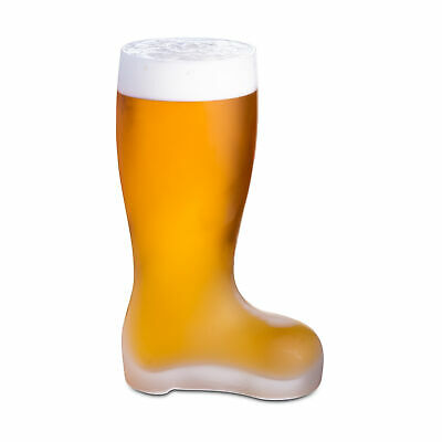 Frosted Glass Beer Boot 18oz / 510ml - German Bierstiefel, Das Boot Frosted