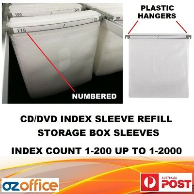 BRAND NEW CD DVD Index Sleeves for Aluminium CD DVD Storage Box Refill Sleeves