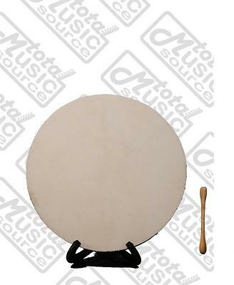 "Bodhran Drum Rosewood 18"" Celtic Irish Style, Double Fixed Crossbars, B18ROS"