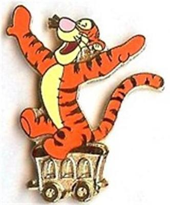 TIGGER ON GOLD TRAIN CAR 2002 Cast LANYARD Disney PIN