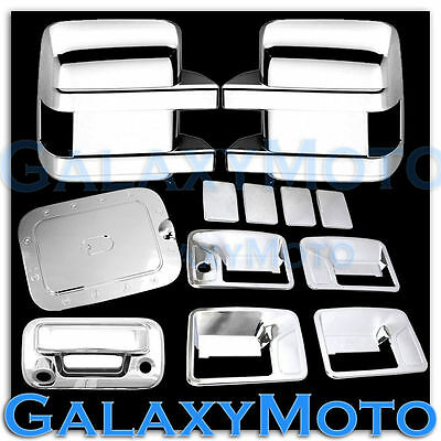 11-16 Ford Super Duty Chrome Mirror+4 Door Handle+Tailgate Camera+Gas Tank Cover