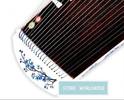 "RARE 21-String 40"" Travel-Size Ebony Wood Guzheng Chinese Zither, Koto (Style 2)"