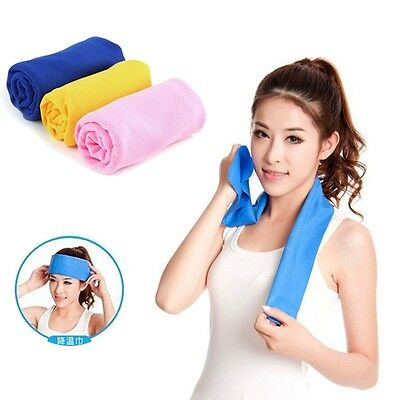 Ice Cold Cool Sport Cooling Towel Reuseable Cycling Jogging Golf YOGA 90x35cm