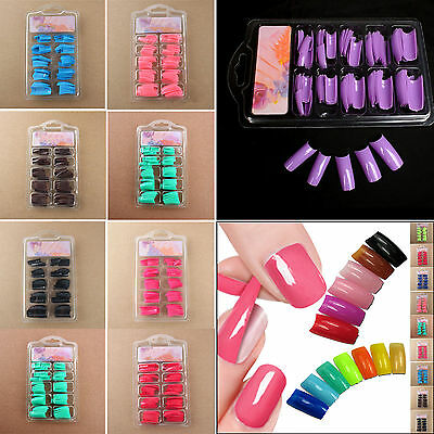 NT 100 PCS False Acrylic Gel French Nail Art Half Natural color French Tips