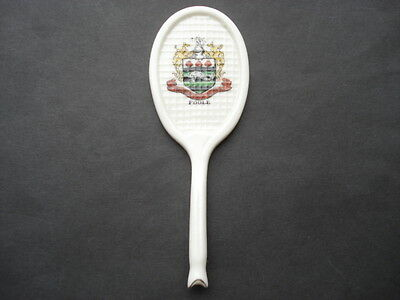 Cww1 Vintage Possibly Arcadian Poole Crested China Tennis Racquet