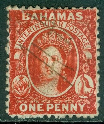 BAHAMAS : 1862. Stanley Gibbons #16 Very Fine, Used. Catalog £170.00.