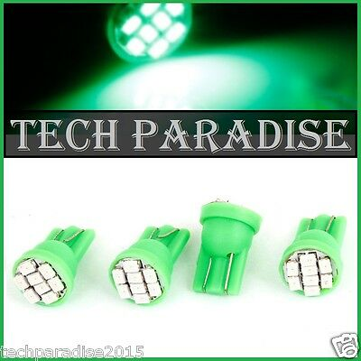 4x Ampoule T10 / W5W / W3W LED 8 SMD 1206 Vert Green veilleuse lampe light 12V