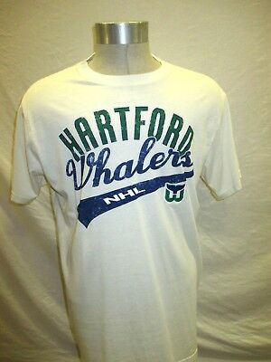 308ae37e4 Hartford Whalers NHL Banner Logo White Tee Shirt G-III Sports NHL Men s  Large