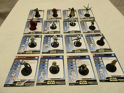 Star Wars Minis Rebel Storm Complete Uncommons Set NEW