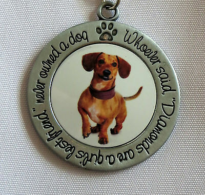 DACHSHUND Keychain Whoever Said Diamonds Are Girl's Best Friend Never Owned Dog