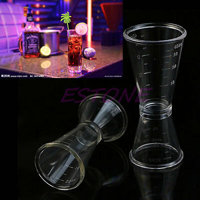 S / L Jigger Single Double Shot Cocktail Wine Short Drink Measure Cup Bar Party
