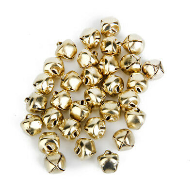 100 Pcs Gold Plated Jingle Bells Loose Beads Charms DIY Jewelry Making 10mm