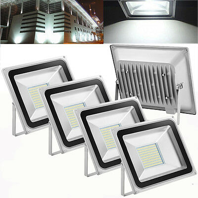 5X 100W Cool White LED SMD Flood Light Outdoor Security Lamp Floodlight 240V