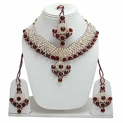 Bollywood Traditional Wedding Bridesmaid Necklace Earring Jewellery Set For Her