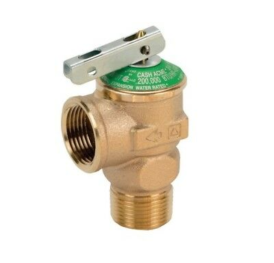 """3/4"""" LEAD FREE Pressure Relief Valve Perfect for Tankless Water Heaters (FWL-2)"""