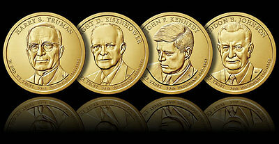 All 4  2015 Presidential Dollar Coins  P-Mint