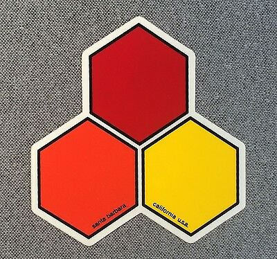 Channel Islands Surfboards Curren Hex Sticker Large 6in si
