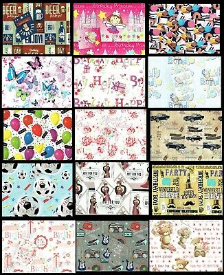 Quality WRAPPING PAPER 99p Without a Gift Card Tag £1.25 with Gift tag